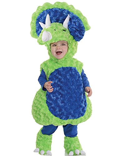[Underwraps Baby's Triceratops Belly, Green/Blue, X-Large] (Weather Themed Halloween Costumes)