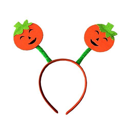 Halloween Smile Hat Cosplay Costume Party Pumpkin Headband Witches Head Wear For Kids Children (Smile Pumpkin)