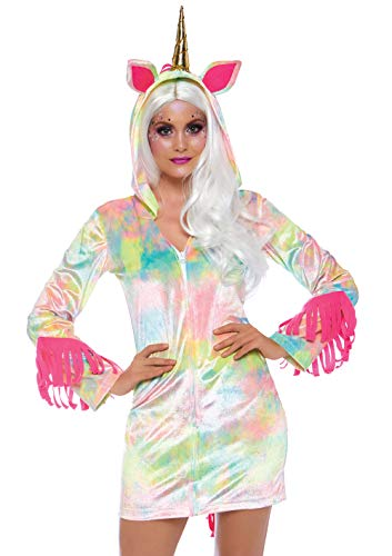 Leg Avenue Womens Enchanted Rainbow Unicorn Costume, Multi X-Small