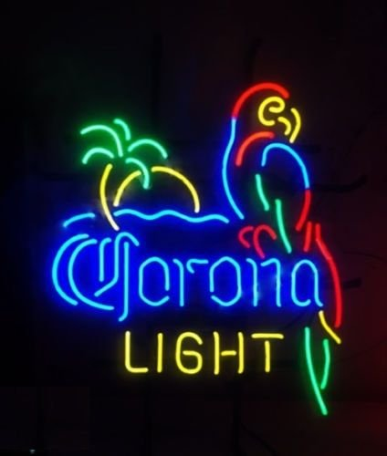 Desung Brand New 24''x20'' Corona Light Parrot Palm Tree Neon Sign (Various sizes) Beer Bar Pub Man Cave Business Glass Neon Lamp Light DB115