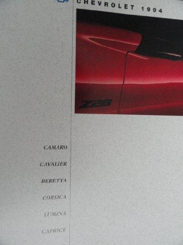 1994 Chevrolet Camaro / Cavalier / Beretta / Corsica / Lumina / Caprice / Corvette Sales Brochure