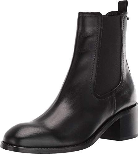 Aquatalia Womens Jemma Leather Almond Toe Ankle Chelsea Boots, Black, Size 7.0 -  null.list