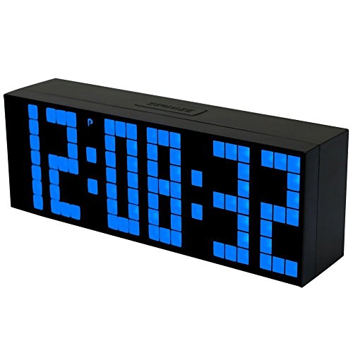 Bestland Digital Large Big Jumbo LED Snooze Wall Desk Alarm Clock with...