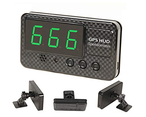 KingNeed Universal GPS Heads Up Display Car GPS Speedometer with Over Speed/Fatigue Driving Alarm/Driving Time and Mileage Caculate and Display for Car & Other Vehicle (C60S)