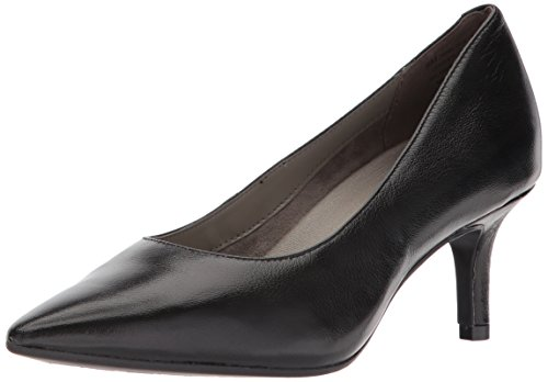 Aerosoles Leather Pumps (Aerosoles Women's Drama Club Pump, Black Leather, 9 W US)