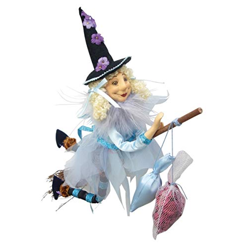 Witches of Pendle – Jazz Witch Flying Pale Blue 32cm