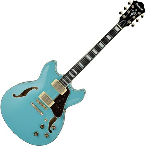(Ibanez Artcore Series AS73G Semi-Hollow Body Electric Guitar Mint Blue)