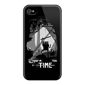 Perfect Hard Phone Cases For Iphone 4/4s With Provide Private Custom Fashion Zelda Adventure Time Cartoonss Image Marycase88