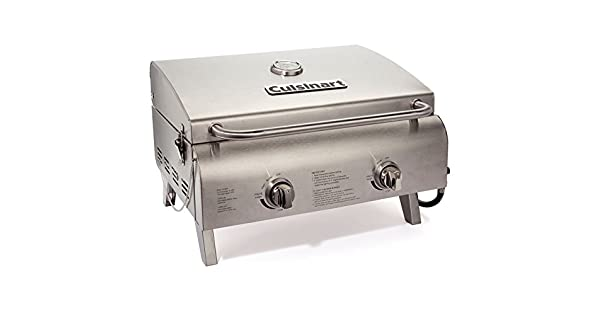 Amazon.com: Parrilla mesa estilo Chef inoxidable Cuisinart ...