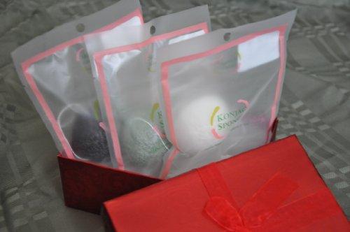 Tous ensemble don naturel éponges (konjac, le thé vert et de konjac konjac charbon de bambou)
