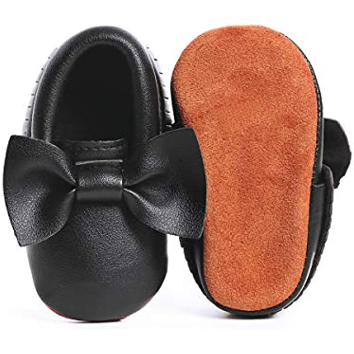 ENERCAKE Infant Baby Boys Girls Shoes Anti Slip PU Leather Loafers Moccasins Toddler First Walkers Newborn Crib Shoes