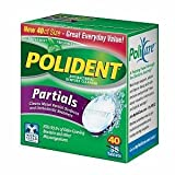 Polident for Partials Clean & Protect Cleanser Tablets 40 ea (Pack of 6)