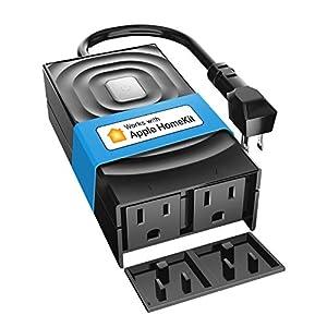 meross Apple HomeKit Smart Outdoor Plug, Waterproof WiFi Outdoor Outlet, Compatible with Amazon Alexa, Google Assistant…