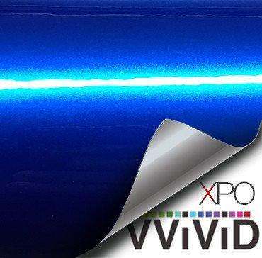 VViViD XPO Gloss Liquid Metal Dark Blue Vinyl Car Wrap Adhesive Film (3ft x 5ft)