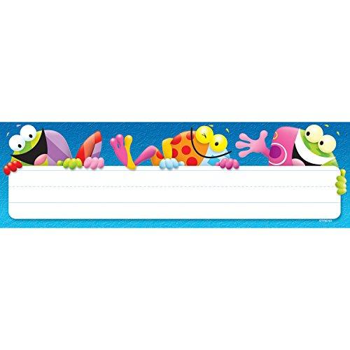 (TREND enterprises, Inc. T-69047BN Frog-Tastic! Desk Toppers Name Plates, 36 Per Pack, 12 Packs)