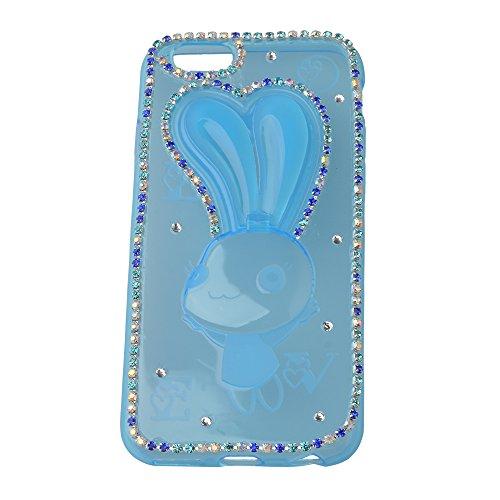EVTECH (TM) für iPhone 6/iPhone 6s 4.7 Inch Mitteilung auf 2014 3D Handmade Fashion Kristallrhinestone Bling Fall-Abdeckung Hard Case Clear (100% Handarbeit)