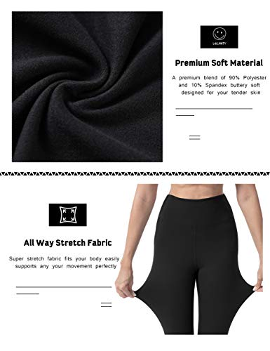 VALANDY High Waisted Leggings for Women Stretch Tummy Control Workout Running Yoga Pants Reg&Plus Size 2