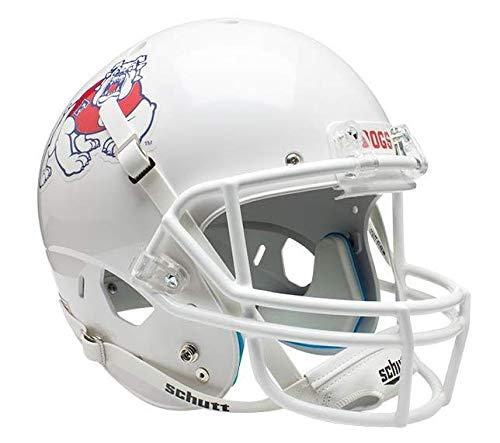 Schutt NCAA Fresno State Bulldogs On-Field Authentic XP Football Helmet, White Alt. 2 ()