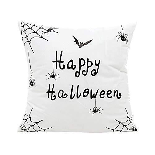 iCJJL Happy Halloween Design Cushion Cover Square Throw Pillow Cover Case Pillowslip Pillowcase for Couch ()