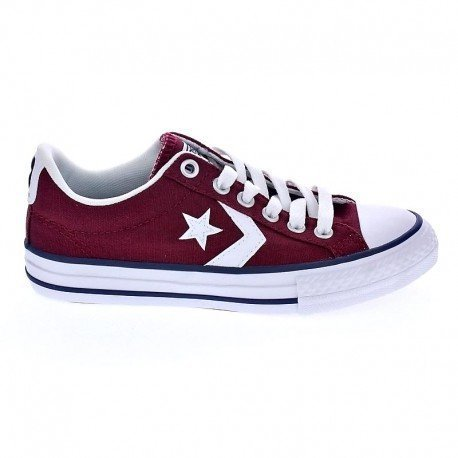 Zapatilla Converse Jr Star Player EV Burgundy-White Rojo