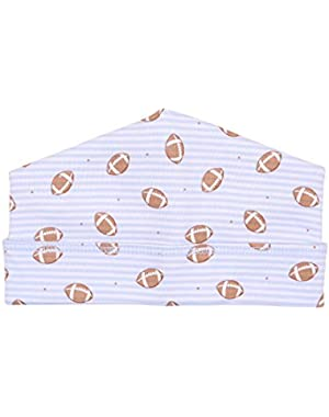 Baby Boy Love Football Printed Hat Blue