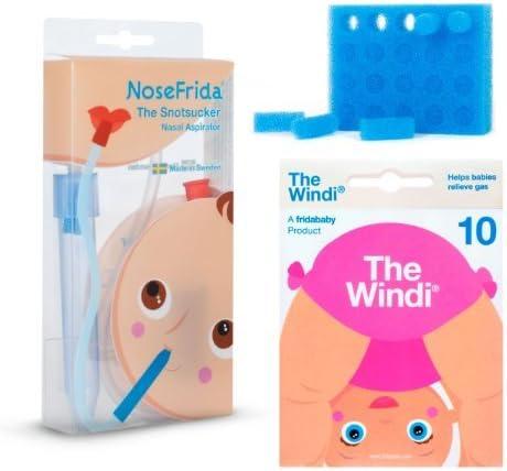 1 NoseFrida aspirador nasal, 24 filtros de higiene, 10 de un solo uso El Windi: Amazon.es: Bebé
