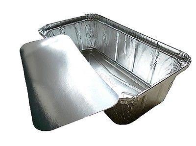 D&W Fine Pack Wilkinson A86 2 lb. Aluminum Foil Loaf/Bread Pan Tins w/Foil Board Lid (pack of 25)