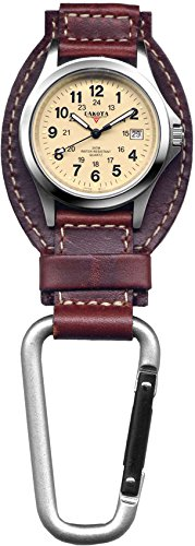 Dakota Watch Company Leather Field Clip Watch