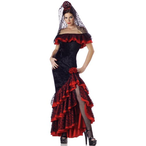 InCharacter Costumes Women's Senorita Costume, Black/Red,