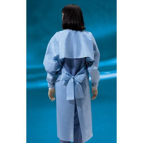 Cardinal Health 4213PG Over-The-Head Isolation Gown with Thumbhooks, Half-Back Style, x-Large (Pack of 100)