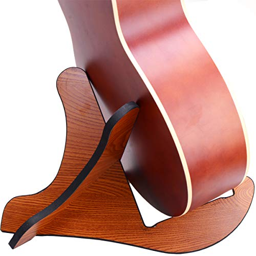 - Guitra Stand Wooden Guitar Stand Portable Folding Instrument Holder for Acoustic, Classic, Electric, Bass Guitar