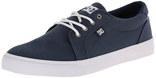 DC Women's Council TX Skate Shoe, Dark Denim/White, 8 M US