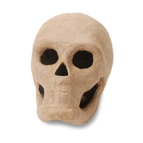 Bulk Buy: Darice DIY Crafts 3-D Paper Mache Skull 5.5 inch (6-Pack) 2876-35 -
