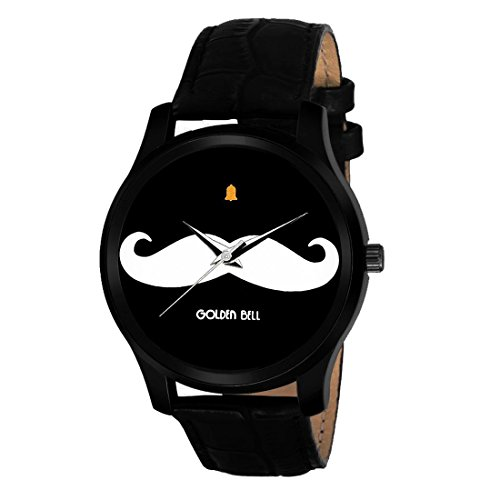 stle Analog Moustache Display Dial Watch ()