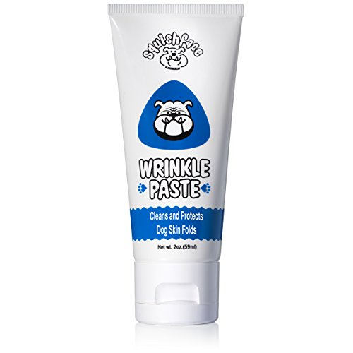 Natural Antibacterial Remedy - Squishface Wrinkle Paste - Cleans Wrinkles, Tear Stains and Tail Pockets - 2 Oz, Anti-Itch, Great for Bulldogs, Pugs and Frenchies