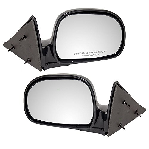 (Driver and Passenger Manual Side View Mirrors Below Eyeline Replacement for Chevrolet GMC Isuzu Pickup Truck 8151508490 8151508500 )
