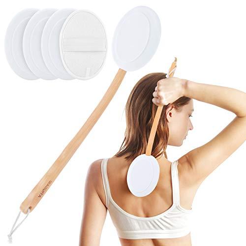 Premium Eincremehilfe für Rücken,MAQUITA Rückeneincremhilfe für einfache Selbstanwendung von Duschbad Körperwaschbürste, Hautcreme Sonnenbräune Aloe Akne für Frauen Männer(4 Pads)