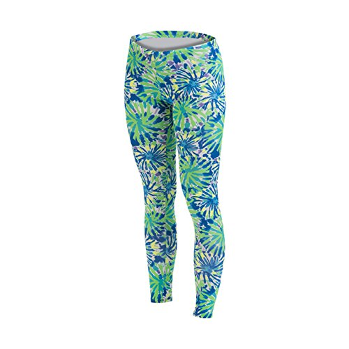 Dolfin Women's Uglies Drag Tights Happy Daze-BLU/GRN -