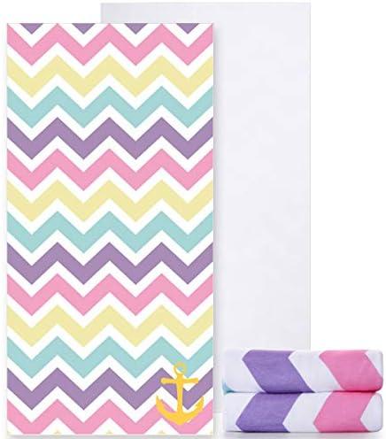 Ricdecor Towels Oversized Rainbow Colorful