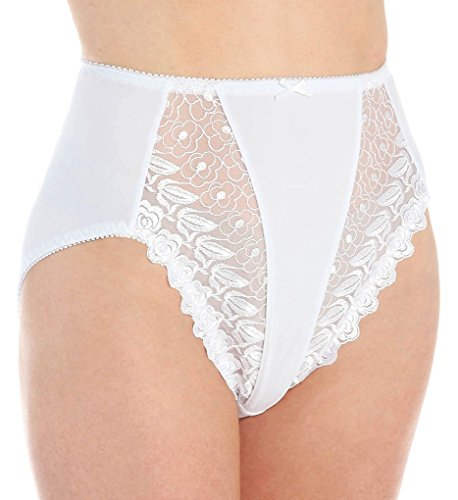 Valmont Embroidered Lace Hi-Cut Brief Style 2320 - White - 4XLarge (11)