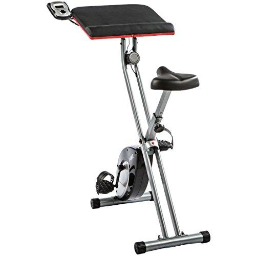 Ultrasport Home Trainer F-Bike Work with Hand Pulse Sensors and Workstation - Folding