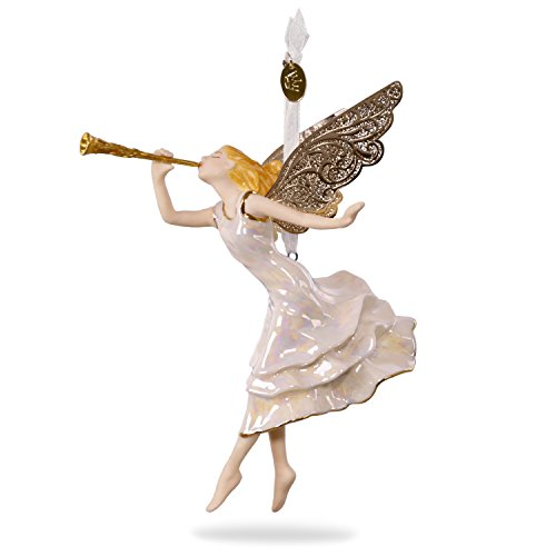 (Hallmark Keepsake 2017 Angel of Winter Wonder Premium Porcelain Christmas Ornament)