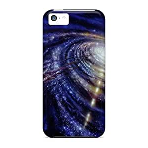 Defender Case For Iphone 5c, Black Hole Pattern