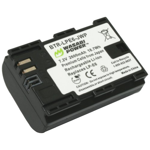 Wasabi Power Canon LP-E6, LP-E6N Replacement (1 Battery)