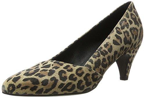 Cerrada Con Punta Zapatos De Multicolor Leopard Mentor leopard Para W7571 Mujer Tacón wY5x4FXI