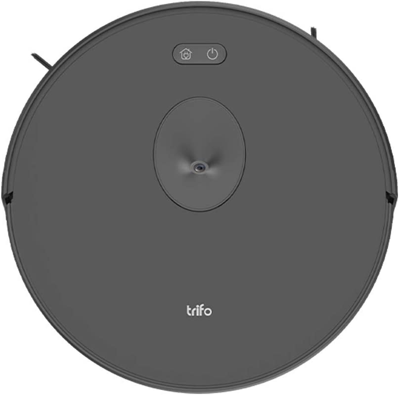 Trifo Ironpie m6 Robot Vacuum Cleaner with Visual Navigation Camera, Remote Monitoring, 1800Pa Strong Suction, Self-Charging, Wi-Fi Connectivity, Ideal for Low-Pile Carpet and Hard Floor (Black)