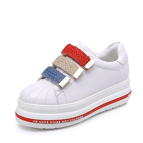 Dicken Weißen Schuh,Die Koreanische Version Der Student Pine Cake Casual Shoes,Höhe Zunehmende Schuhe A