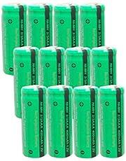 12 Pack 2/3AAA Rechargeable Batteries for solar light NiMh 1.2V 400mAh