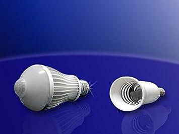 LED-sensor de movimiento-luz con adaptador E14 en E27 casquillos