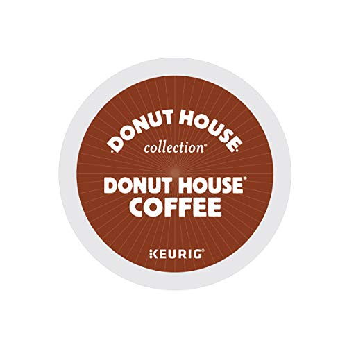 Donut House Collection, Donut House Coffee, Single-Serve Keurig K-Cup Pods, Medium Roast, 96 Count (4 Boxes of 24 Pods)